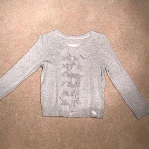 A&F Grey Ruffle Sweater